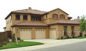 sand stucco house