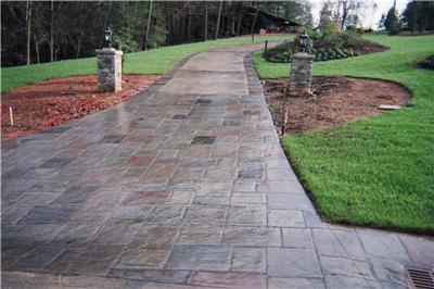 concrete outdoor path